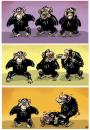 Cartoon: Three little monkeys (small) by kap tagged kap monkey