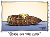 Cartoon: Porn on the Cob (small) by JohnBellArt tagged porn,cob,corn,butter,boobs,sex,food