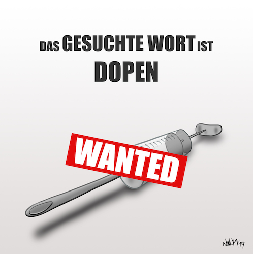 Cartoon: GESUCHTE (medium) by INovumI tagged drogen,dopen,doping,sucht,suchten,gesucht,wanted