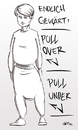 Cartoon: Pullover Pullunder (small) by INovumI tagged pullover,pullunder
