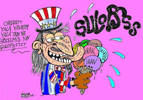 Cartoon: american (medium) by demirhindi tagged cartoon
