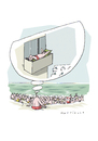 Cartoon: Strandtraum (small) by Mattiello tagged sommer,urlaub,ferien