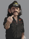 Cartoon: Lemmy Kilmister (small) by Danny Kohn tagged motörhead