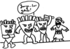 Cartoon: Jungs los gehts! (small) by dinofriend tagged terroranschläge,brüssel,pommes,frites,is