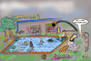 Cartoon: freibad 2. teil.. (small) by ab tagged sommer,schwimmen,freibad,action,fun