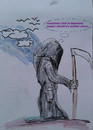 Cartoon: grim reaper depressions (small) by ab tagged tod,depression,farbe