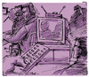 Cartoon: zapp tv yonetmen (small) by pisko tagged hikaye,resimleme