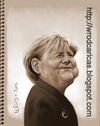Cartoon: Angela Merkel (small) by WROD tagged angela,merkel,german,chancellor