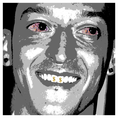 Cartoon: Özil lacht... (medium) by Night Owl tagged profifussball,steuerbehörde,fussball,steuertricks,spanien,finanzamt,strafzahlung,steuernachzahlung,leaks,football,oezil,özil,mesut