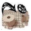 Cartoon: Rollentausch (small) by Night Owl tagged klopapier,toilettenpapier,lavatory,paper,bathroom,tissue,rollentausch,role,reversal,swap,change,of,roles