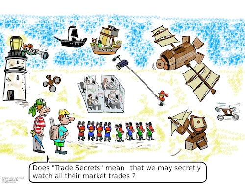 Cartoon: Trade Secrets Definition (medium) by paparazziarts tagged trades,secrets,intellectual,property,commercial,capital,market,brokerage