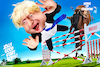 Cartoon: Backed the wrong horse (small) by Bart van Leeuwen tagged boris,johnson,brexit,no,deal,parliament,house,of,commons,horse