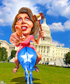 Cartoon: Forward (small) by Bart van Leeuwen tagged nancy,pelosi,first,speaker,vote,democrats