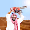 Cartoon: The Saudi Chain Saw Massacre (small) by Bart van Leeuwen tagged mohammed,bin,salman,khashoggi,saudi,arabia