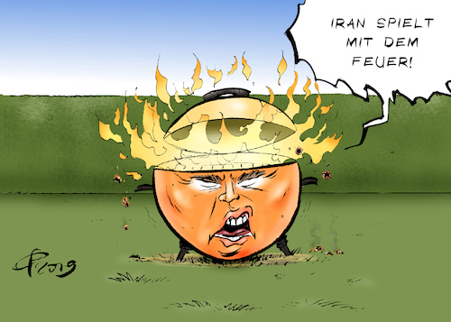 Cartoon: Spiel mit dem Feuer (medium) by Paolo Calleri tagged usa,us,iran,atom,uran,urananreicherung,anreicherung,atomabkommen,ueberschreitung,obergrenze,uranvorraete,praesident,donald,trump,warnung,eskalation,sanktionen,karikatur,cartoon,paolo,calleri,usa,us,iran,atom,uran,urananreicherung,anreicherung,atomabkommen,ueberschreitung,obergrenze,uranvorraete,praesident,donald,trump,warnung,eskalation,sanktionen,karikatur,cartoon,paolo,calleri