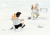 Cartoon: Diego (small) by Paolo Calleri tagged welt,sport,argentinien,napoli,italien,mexiko,fußball,weltmeister,diego,armando,maradona,hand,gottes,tod,idol,legende,karikatur,cartoon,paolo,calleri