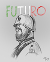 Cartoon: Futuro (small) by Paolo Calleri tagged eu,union,italien,land,staat,politik,populismus,rechtspopulismus,rechtsextremismus,nationalismus,faschismus,lega,matteo,salvini,innenminister,wahlen,europa,europafeindlich,mussolini,demokratie,futurismus,karikatur,cartoon,paolo,calleri