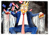 Cartoon: House of Cards (small) by Paolo Calleri tagged usa,us,vereinigte,staaten,gewalt,polizei,polizeigewalt,george,floyd,rassismus,praesident,donald,trump,militaer,demonstrationen,proteste,spaltung,gesellschaft,weiss,schwarz,black,lives,matter,house,of,cards,cartoon,karikatur,paolo,calleri