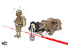 Cartoon: Nachziehen (small) by Paolo Calleri tagged syrien,usa,russland,giftgasangriff,militäreinsatz,barack,obama,baschar,al,assad,rote,linie,krieg,konflikt,bürgerkrieg,karikatur,paolo,calleri