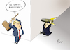 Cartoon: Schlag auf Schlag (small) by Paolo Calleri tagged usa,nordkorea,washington,pjoengjang,raketen,militaer,atomwaffen,test,drohungen,atomschlag,krieg,donald,trump,kim,jong,un,karikatur,cartoon,paolo,calleri