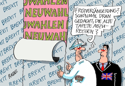 Cartoon: Tapetenwechsel (medium) by RABE tagged brexit,no,deal,johnson,boris,downing,street,austritt,eu,brüssel,london,rabe,ralf,böhme,cartoon,karikatur,pressezeichnung,farbcartoon,tagescartoon,may,juncker,luxemburg,fristverlängerung,neuwahlen,parlament,tusk,maler,tapete,tabetenwechsel,queen,brexit,no,deal,johnson,boris,downing,street,austritt,eu,brüssel,london,rabe,ralf,böhme,cartoon,karikatur,pressezeichnung,farbcartoon,tagescartoon,may,juncker,luxemburg,fristverlängerung,neuwahlen,parlament,tusk,maler,tapete,tabetenwechsel,queen