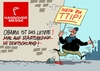 Cartoon: TTIP (small) by RABE tagged hannover,hannovermesse,staatsbesuch,obama,usa,merkel,kanzlerin,ttip,protest,rabe,ralf,böhme,cartoon,karikatur,pressezeichnung,farbcartoon,tagescartoon,handelsabkommen,mauer,transparent,protets