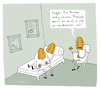 Cartoon: Blickkontakt (small) by Schilling  Blum tagged psychiater,depression,couch,patient