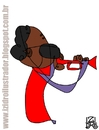 Cartoon: Miles Davis (small) by izidro tagged miles,davis