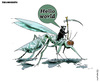 Cartoon: Zika mosquito (small) by FadiToOn tagged zika,mosquito