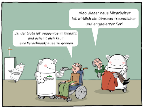 Cartoon: Pflegeroboter (medium) by CloudScience tagged pflegeroboter,pflege,roboter,robotik,altenheim,rente,versorgung,fachkraeftemangel,fachkraft,medizin,digitalisierung,digital,automatisierung,ki,kuenstliche,intelligenz,personalmangel,health,healthcare,krankenhaus,cartoon,moeller,illustration,pflegeroboter,pflege,roboter,robotik,altenheim,rente,versorgung,fachkraeftemangel,fachkraft,medizin,digitalisierung,digital,automatisierung,ki,kuenstliche,intelligenz,personalmangel,health,healthcare,krankenhaus,cartoon,moeller,illustration