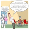 Cartoon: Robo-Recruiting (small) by CloudScience tagged robo recruiting recruitment bewerbung ki ai algorithmen bewerbungsgespraech vorstellungsgespraech filter daten analyse arbeit zukunft digitalisierung digital roboter diskriminierung job einstellung hr personalwesen unternehmen management beruf innovation kuenstliche intelligenz personal rekrutierung it tech technik technologie future transformation wandel change businesscartoon