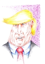 Cartoon: Trump (small) by Guto Camargo tagged trump caricatura desenho politica presidente eua