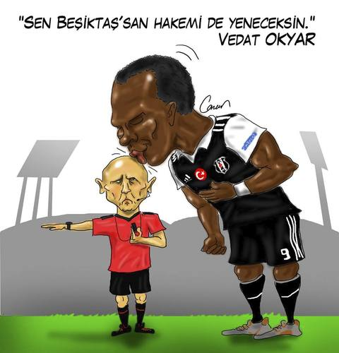 Cartoon: V. Aboubakar - Sergey Karasev (medium) by Caner Demircan tagged referee,besiktas,russian,napoli