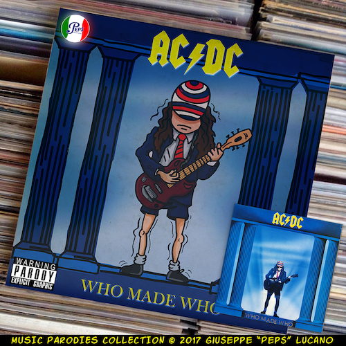 Cartoon: AC-DC - Who Made Who (medium) by Peps tagged acdc,who,made