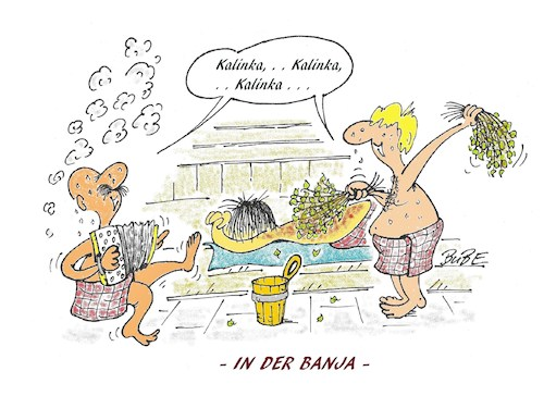 Cartoon: Sauna-Banja (medium) by BuBE tagged sauna,wellness,gesundheit,abhärtung,relaxen
