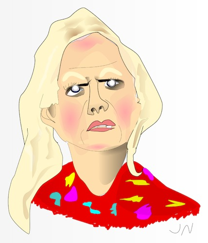 Cartoon: Barbara Schöneberger (medium) by Jochen N tagged fernsehmoderator,tv,entertainer,schauspielerin,sängerin