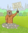 Cartoon: Groundhog Day (small) by Barthold tagged brexit,further,extension,delay,boris,johnson,prime,minister,three,month,originally,end,october,parliament,marmot,deja,vu
