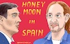 Cartoon: Honeymoon in Spain (small) by Barthold tagged parliament,elections,spain,october,2019,letter,intent,coalition,psoe,pedro,sanchez,up,podemos,pablo,iglesias