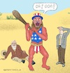 Cartoon: Stone Age Revival (small) by Barthold tagged america,uncle,sam,nordstream,sanctions,allseas,neandertaler,law,jungle,stone,age,caveman,national,egoism,arrogance,disrespect,souvereignty