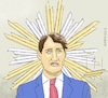 Cartoon: Winner of Parliament Elections (small) by Barthold tagged justin,trudeau,liberal,party,prime,minister,canada,parliament,election,2019,loss,absolute,majority,cooperation,ndp,socialists,gloriole,damage