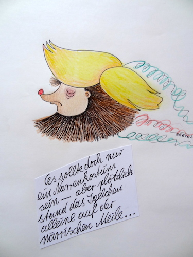 Cartoon: DONALD (medium) by katzen-gretelein tagged donald,igel