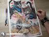 Cartoon: Drawing Harbour Chase - Dark Art (small) by Art by Mihai Alin Ion tagged drawing,painting,illustration,artwork,darkart,cats,mouse,horror,portfolio,mihaialinion,pencildrawing