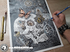 Cartoon: Drawing Vertex - Dark Art (small) by Art by Mihai Alin Ion tagged drawing,painting,illustration,vertex,art,darkkart,pencildrawing,horror,mihaialinion,skull,skullart