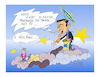 Cartoon: Saint Draghi   Hellas (small) by vasilis dagres tagged draghi,hellas,ecb