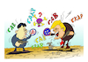 Cartoon: the button (small) by vasilis dagres tagged donnaund,tramp,kim,jong,un