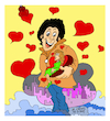 Cartoon: the lovers. (small) by vasilis dagres tagged the,lovers