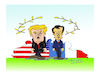 Cartoon: TRUMP AND MACRON (small) by vasilis dagres tagged trump,macron,american,france
