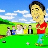 Cartoon: Good Shot (small) by takeshioekaki tagged trump