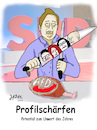 Cartoon: Profilschärfen (small) by jpn tagged spd,profil,nahles,scholz,dreyer,kühnert,gümbel,groko