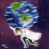 Cartoon: Heros (small) by Orhan ATES tagged hero,health,human,corona,virus,word,humanity,medicine,super,danger